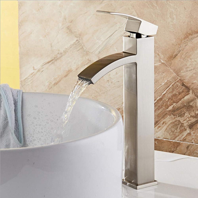 Wasserhahn Bad Wasser Mischbatterie Waschbecken Wasserhahn Bad Waschtischarmatur Einlochmontage Messing Wasserhahn Wasserfall WC Waschtischarmaturen