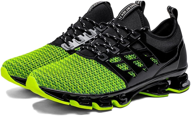 ASJUNQ Men's Sports shoes Low Waist Breathable,Green-41