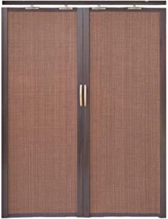 Jcnfa-Persianas Cortina De Bambú Puerta Corredera Plegable