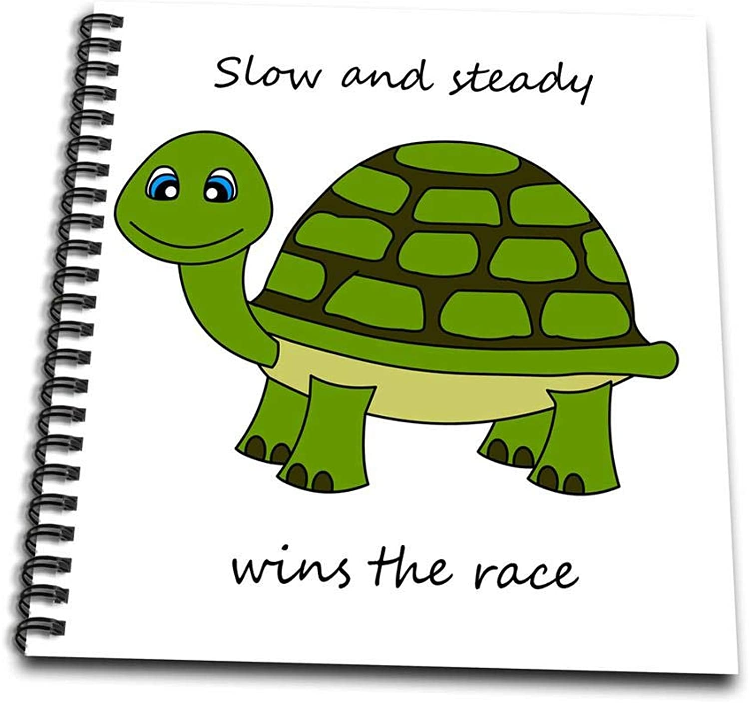 3dpink db_6106_1 Slow and Steady wins The Race  Green TurtleDrawing Book, 8 by 8