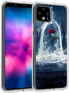DISNEY COLLECTION Compatible Google Pixel 4 XL [6.3inch] Art Beauty and The Beast Disney Fantasy Flower Snow