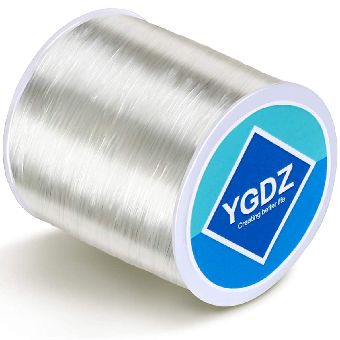 0.8mm Bracelet String, YGDZ Clear Elastic Bead Cord Stretchy Crystal Thread Bracelet String for Jewelry Making Bracelet Beading Crafting, 1 Roll 100m (0.8mm)