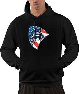 FAFU&XS American Flag Sailfish Fish Fishing Male Hoodie Workout Pocket Pullover