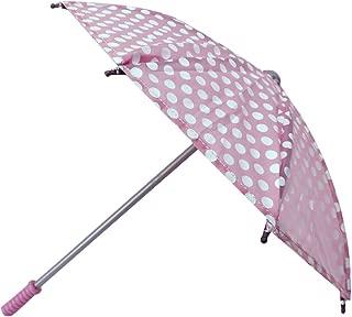 Sophia's 18 Inch Doll Polka Doll Umbrella, Open & Close Pink & White Polka Dot Umbrella Perfect for American Girl Dolls & More!