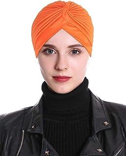 Pleated Ruffle Chemo Pre Tied Head Wrap Bonnet Turban Cap Hair Wrap Cover Up