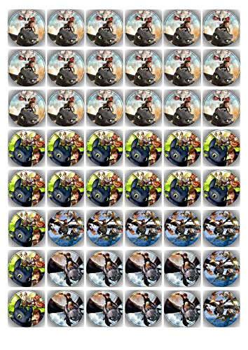 48 Muffin & Cupcake Aufleger vorgestanzt Fondant Drachenzähmen leicht gemacht AMA1