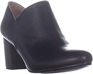 Naturalizer Womens Misha Almond Toe Ankle Fashion Boots, Black Smooth, Size 8.0