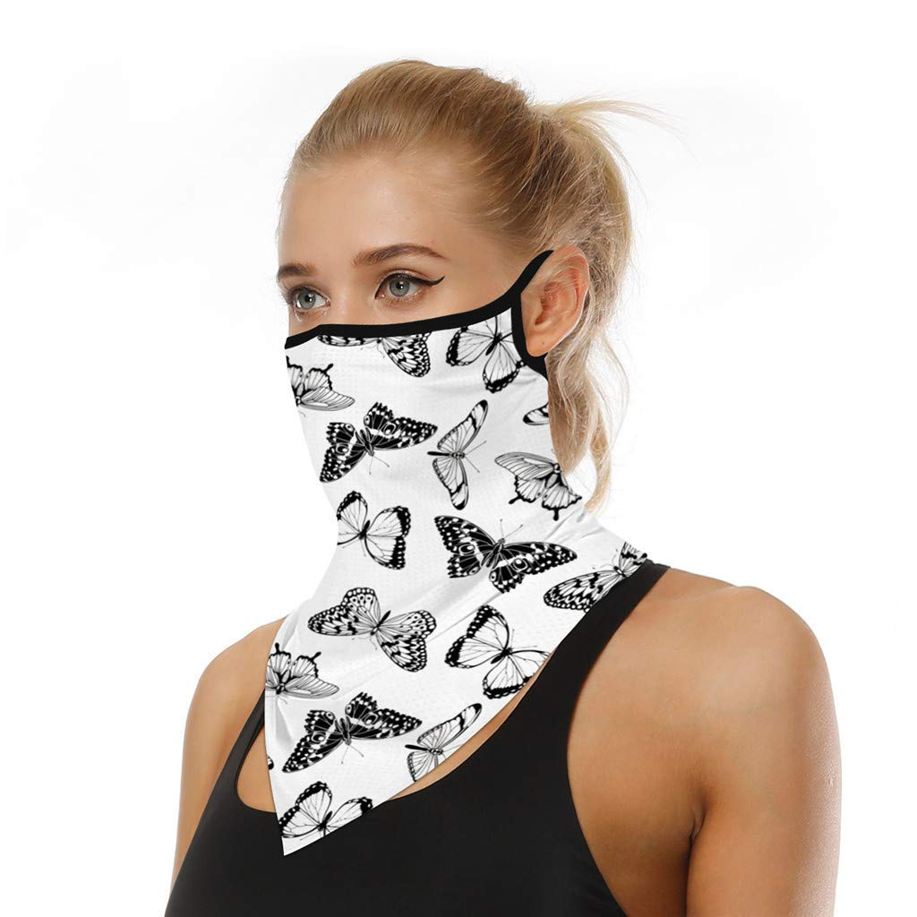 Unisex Bandana Reusable Face Mask Washable Scarf Face Rave Balaclava Neck Gaiters Dust Cloth Washable Wind Motorcycle Mask for Dust Cover UV Protection Women Men and Kid
