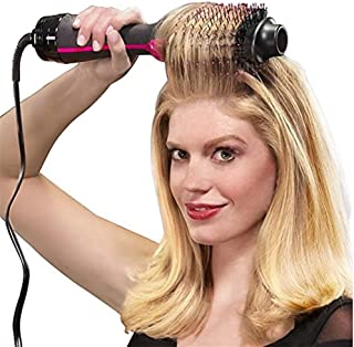 BOOBOOAU 1000W Hair Dryer Brush 2 In 1 Hair Straightener Curler Comb Electric Blow Dryer With Comb Hair Brush Roller Styler