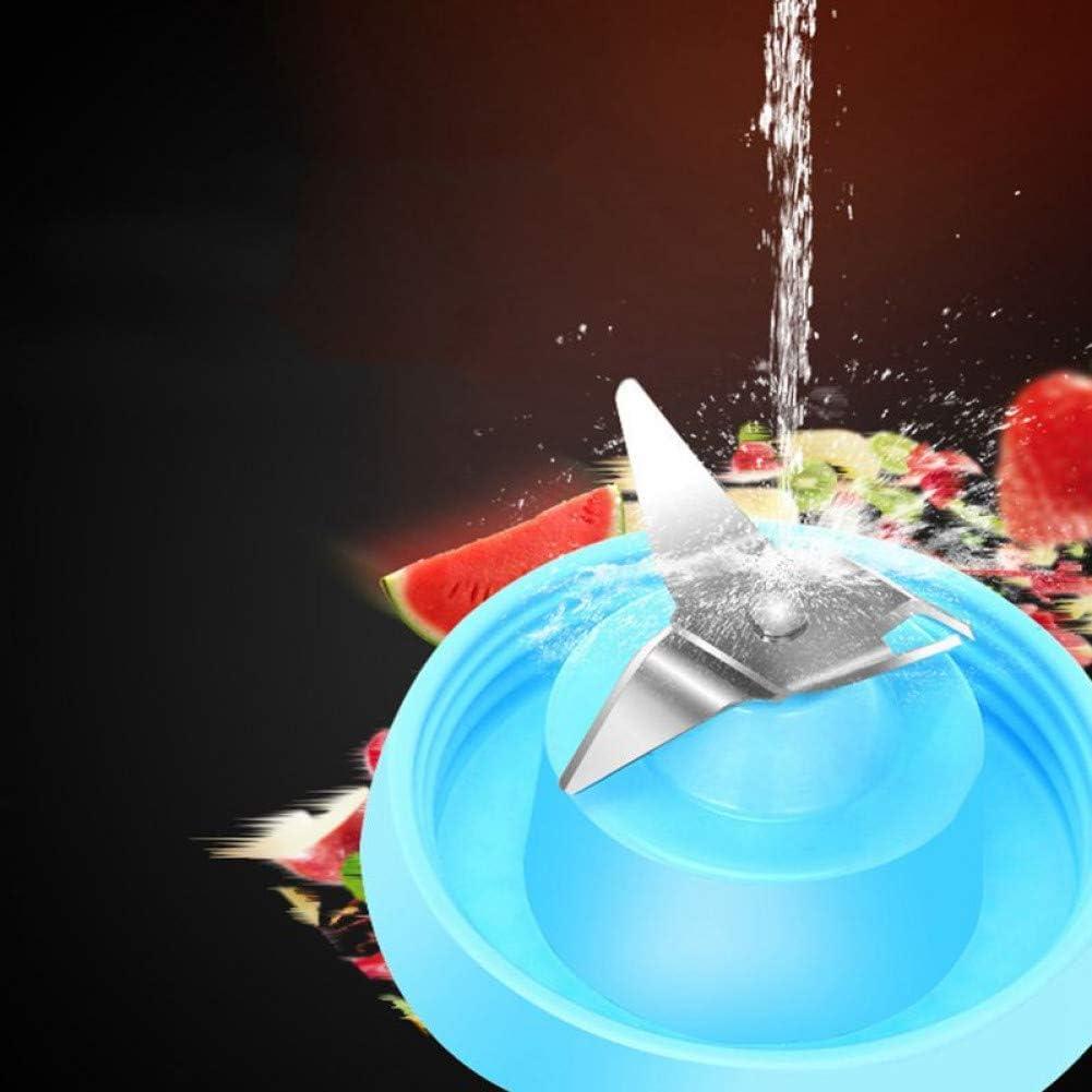 MYZ Exprimidor y Licuadora, Exprimidor Copa Portátil Jugo Tamaño Blender Personal Eletric Recargable Mezclador 500Ml Fruta De Mezcla Máquina con Cargador USB Cabl, Azul Blue