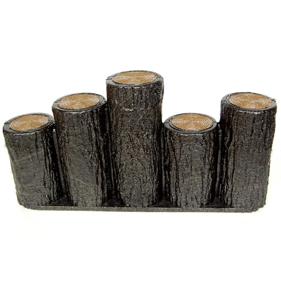 暴露する平衡北方樹脂製擬木はなえ 5連段違い杭タイプ H200