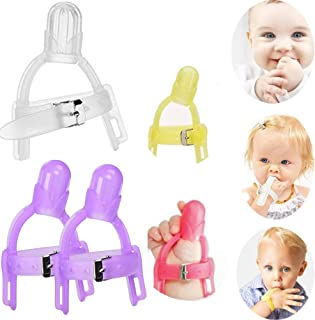 Thumb Sucking Stop,Baby Thumb Sucking Finger Guard Children Nail Biting Prevention Treatment Kit for 1-5 Years Baby Kids,Color Random (2)