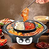 SEAAN 2 in 1 Portable Electric Grill Upgraded 2200W Electric Hot BBQ Pot for Indoor Outdoor Parties,...