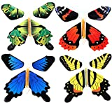 Gmai Flying Butterfly - Classic Wind Up Swallowtail Butterfly - Close Up Magic Set of,Fun Toy or Romatic Wedding (4pcs)