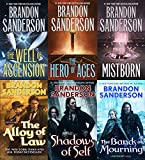 Mistborn 6 Books Collection Set by Brandon Sanderson (Final Empire, Well of Ascension, Hero of Ages, Band of Mourning, Alloy of Law & Shadows of Self)
