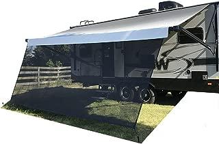 Tentproinc RV Awning Sun Shade Screen 9' X 22'3'' - Black Mesh Sunshade UV Blocker Complete Kits Motorhome Camping Trailer Canopy Shelter - 6 Years Limited Warranty
