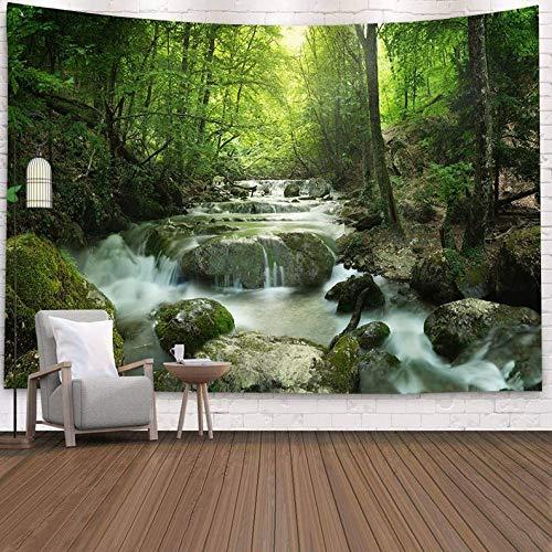 ydlcxst Tapiz Paisaje Cascada Bosque Decoración De La Habitación del Hogar Dormitorio Sala De Estar Tapiz Art Deco 260X300Cm /11511