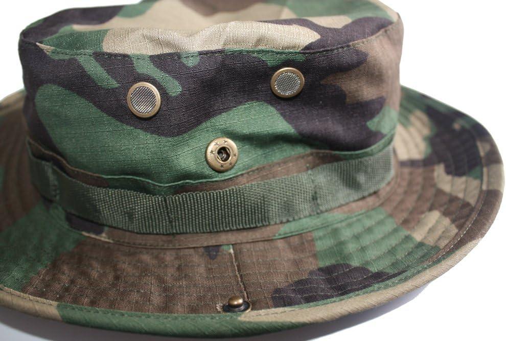 Camouflage Hunter Hat Sniper Hidden Jungle Sports Combat Caps Wide Brim Bucket Hat Camping Hiking Head Wear