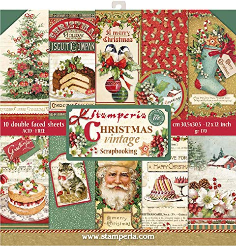 Stamperia Christmas Vintage Paper Pad 30x30cm