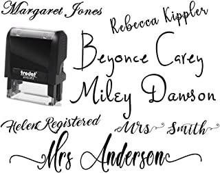 Signature Stamp Name Stamp Pick from 10+ Fonts Customizable Personalized Custom Adult Name Self Inking Stamp One Line Custom Stamp RN Nurse Stamper Self Inking Personalized Self-Ink Stamp Name Stamp