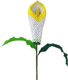 3D Modular Origami Calla Lily Flower Handmade Paper Art Decoration