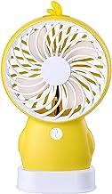 DLRBDMM Draagbare handheld ventilator, USB-bureauventilator kleine persoonlijke draagbare tafelventilator met oplaadbare b...