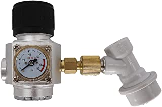 Heavy Duty CO2 Keg Charger, Brewing Mini CO2 Gas Regular,Beer Nitrogen Argon CO2 Dispenser (3/8