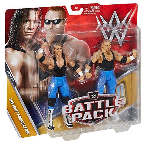 WWE Bret Hart and Jim Neidhart Action Series 47 Figure, 2 Pack