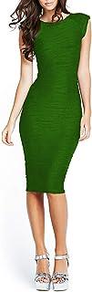 Women's Midi Dresses Sleeveless Knee Length Party Evening Dress