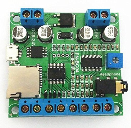 Electronics123.com, Inc. 4 Buttons Triggered MP3 Player Board with 10W Amplifier and Terminal Blocks