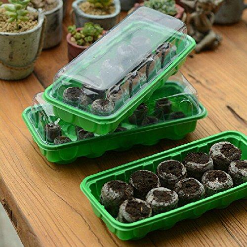 10 Holes Plastic Rectangle Garden Seedling Box Planting Boxs