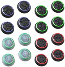 Fosmon (8 Pairs / 16 Count) Analog Stick Joystick Controller Performance Thumb Grips for Xbox One S   PS4   PS3   Xbox One   Xbox 360   Wii U   Wii Nunchuk (Assorted)
