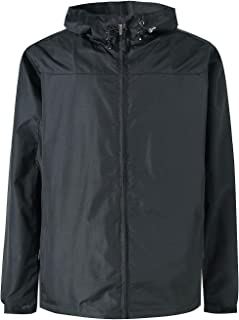 Mens Windbreaker Winter Rain Jacket Waterproof with Hood Hunting Coat for Men