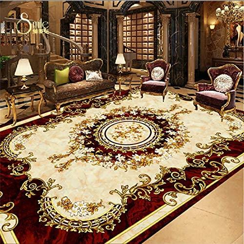 Muebles de renovación del hogar Alfombra de estilo europeo Antideslizante Impermeable Autoadhesivo Dormitorio Azulejos de piso 3D Baño personalizado Papel tapiz 3D Mural Etiqueta de la pared 400cmX
