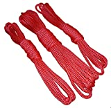 Bondageseile Set Basic 2x3m + 1x6m oder Profi 2x6m + 1x12m ROT weich robust Seilbondage Körperbondage BDSM Bondage-Zubehör (Basicset 2x3 + 1x6m) -