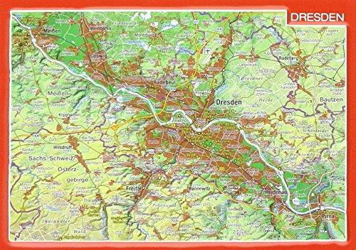 Reliefpostkarte Dresden