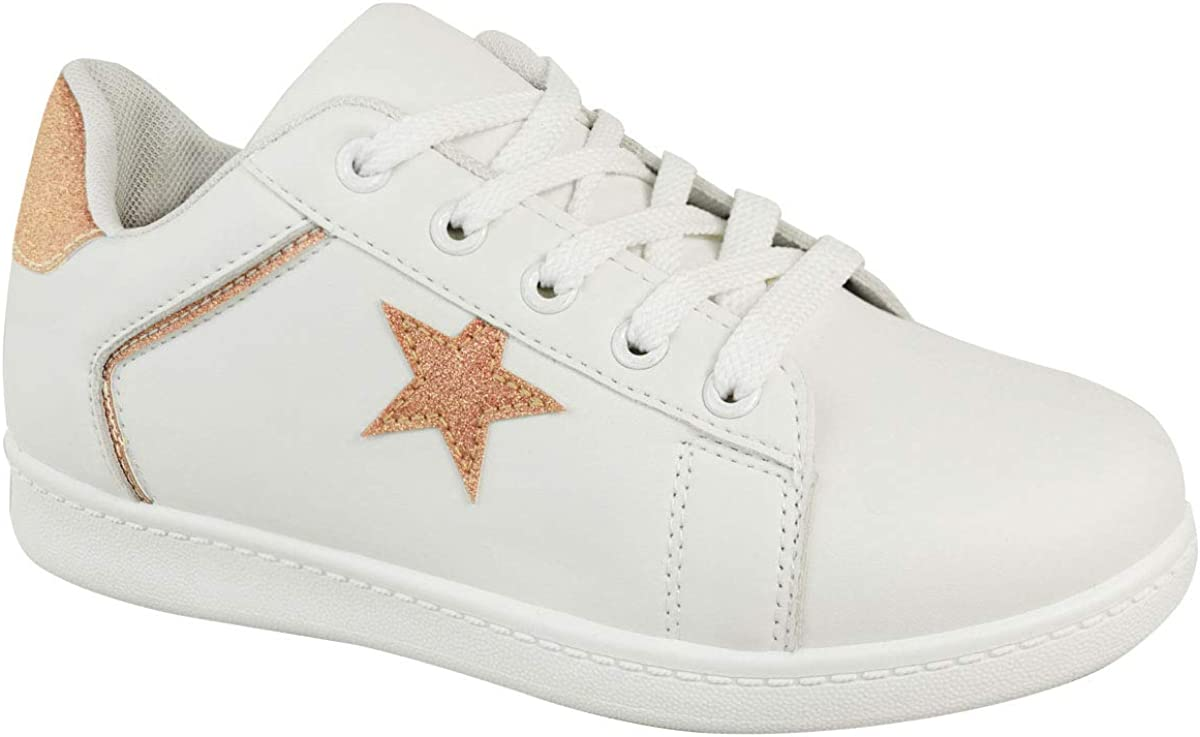 shipfree Fashion Thirsty Womens Ladies Glitter Surprise price Spa Sneakers Trainers Star