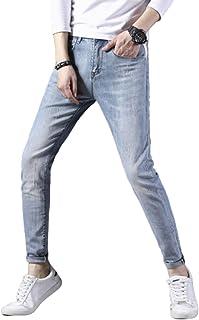 Lente hiphopjeans voor heren, halfhoge taille Stretch Slim Fit Trendy broek Rechte pasvorm Comfort Flex Jean, persoonlijkh...