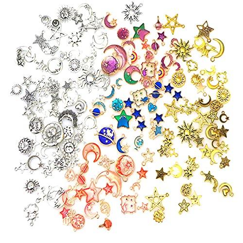 RUIYELE 170 piezas surtidos chapado en oro esmaltado, para hacer joyas, collares, pulseras, colgantes y manualidades