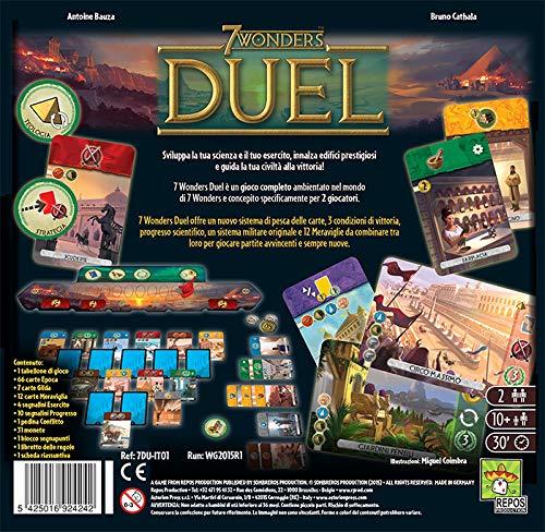 Asmodee- 7 Wonders Duel, Edizione Italiana, Multicolore, 8035
