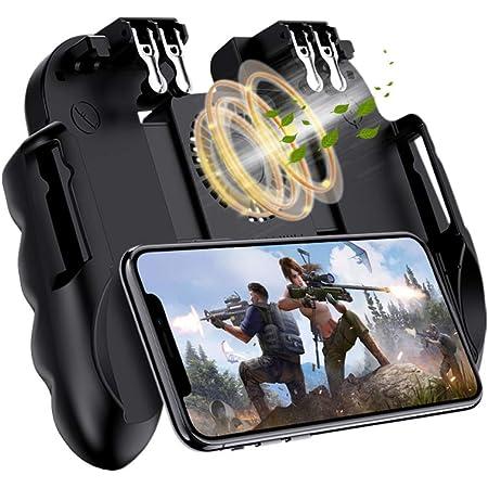 【最新6本指アップデート版】 荒野行動 PUBG Mobile 使命召唤 コントローラー 6本指 サイレント冷却 6S高速放熱 高感度 耐久 射撃ボタン スマホゲーム コントローラー