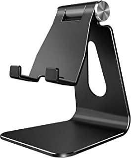 Adjustable Cell Phone Stand, AUMA Aluminum Alloy Desktop Phone Holder, Cradle, Dock, Compatible with iPhone 11 Pro Max Xr ...
