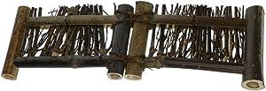 Blesiya Mini Cerca de Bambú Esculturas Estatuas de Jardín Detalles Decorativos Patio Casa Bricolaje - S