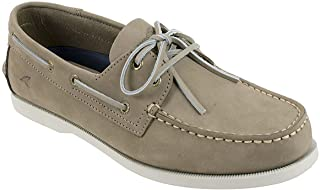 Rugged Shark Mens Boat Shoe, Classic Look, Premium Genuine Leather, with Odor Control