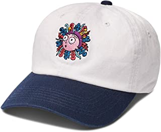 Skate x Rick & Morty Men's Morty Dad Strapback Hat White Blue