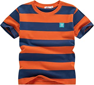 WIYOSHY Boys' Crew Neck Short Sleeve T-Shirts Cotton Top Tees