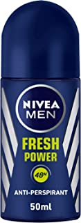NIVEA MEN Fresh Power, Antiperspirant for Men, Fresh Scent, Roll-on 50ml
