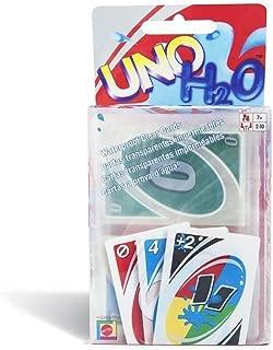 UNO H2O Card Game Waterproof Clear PVC 260g Per Set Environmentally Friendly