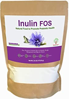 NAMANNA Pure Inulin FOS Powder,1.18 KG(41.6 Ounce) – Natural Fiber from Chicory Root, Prebiotic Intestinal ...