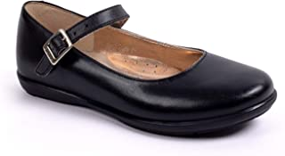 Yuyin Niña Ideal para Uso Escolar y Formal FA 39171 Napa. Negro